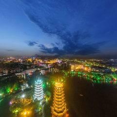 广西-桂林航拍夜景